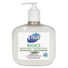 DIAL 06044 Pure & Natural Soap 12/16oz Pump Bottles Per Case