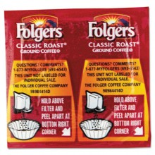 FOL 06930 Folgers Regular Vac Pack Premeasured Coffee Packs 42/.9oz Per Case