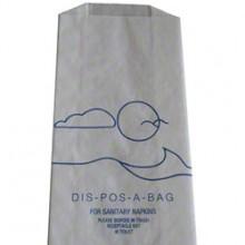 WHD 102W 4 x 2.25 x 9 Sanitary Napkin Disposal Bags 1000 Bags Per Case