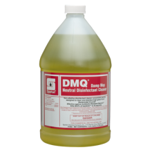 Spartan 106204 DMQ Lemon Scent Quat Neutral Disinfectant Cleaner HIV 1:64 4-1 Gallons Per Case