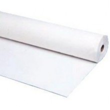 NWE 1403W White Economy Plastic Table Cover 40IN x 300FT Per Roll