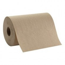 GPC 26401 Brown Dispenser. Roll Towel 7 7/8IN x 350FT 12 Rolls Per Case