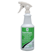 SPA 319503Sani-Tyze Contact Surface Sanitizer RTU 12/32oz w/3 Trigger Sprayers Per Case