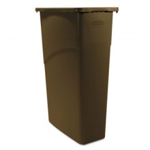 RCP1956187 Brown Slim Jim Waste Container 23 Gallon