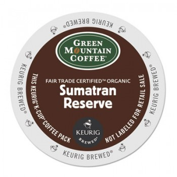 GMT 4060 Keurig K-Cups Green Mountain Organic Sumatran Coffee 24 Per Box