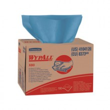 KCC 41041 WypALL X80 Towels Blue Brag Box 160 Wipes Per Box