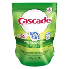PGC 97716 Cascade 2 in 1 Action Pacs Automatic Dishwashing Detergent 20 Paks Per Bag 5 Bags Per Case