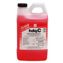 Spartan 470202 Clean On The Go HDQ-C2 Neutral Disinfectant Cleaner (132 Gallons) 4-2 Liters Per Case