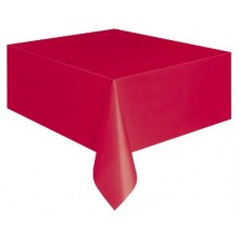 Northwest TBL 549RDEA 54x108 RED Plastic Table Covers 24 Per Case