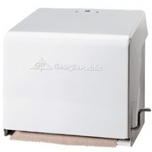 GP 56201 White Metal Crank Universal Towel Dispenser Per Each