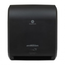 GPC 59462A enMotion Black 10 Inch Automated Touchless Roll Towel Dispenser Per Each