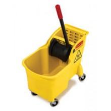RCP 738000YEL 31 Quart Tandem Bucket & Wringer Combo Per Each