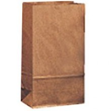 DRO 18404 4lb Brown Bags 5X3-1/8X9.75 500 Bags Per Pack