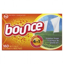 PGC 80168CT Bounce Fabric Softener 160 Sheets Per Box 6 Boxes Per Case