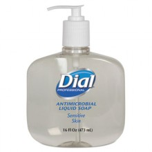 DIAL 80784 Liquid Dial Antimicrobial Sensitive Skin Soap 12/16oz