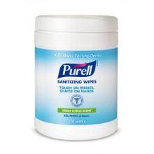 GOJO 911306CT Purell Sanitizing Wipes 6 Canisters 270 Sheets Per Case