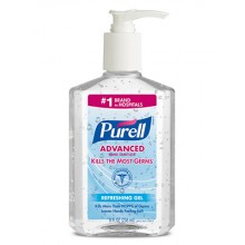 GOJO 965212CT Purell Instant Hand Sanitizer 12/8oz Pump Bottles Per Case