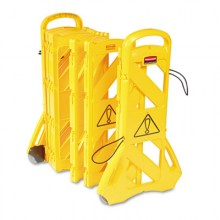 RCP 9S1100YEL Portable Mobile Barrier 13 Feet x 40 Inches Yellow Per Each