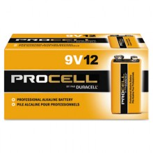DUR PC1604BKD Procell 9 Volt Alkaline Batteries 12 Per Pack