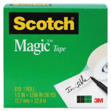 MMM 810341296 3/4IN x 1296IN Scotch Magic Tape Refill Per Roll