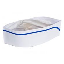 RPP RCC2BX White Overseas Hats w/ Blue Stripe 100 Per Box