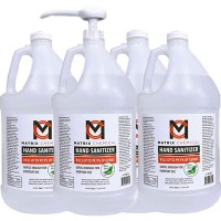 WHD SANI1GAL Matrix 70% Alcohol Gel Hand Sanitizer Gallon Bottle With Pump 4 Gallons Per Case