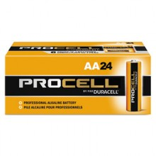 DUR PC1500BKD Procell AA Alkaline Batteries 24 Per Pack