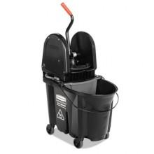RCP 1863898 BLACK Executive WaveBreak Combo 35 QT Bucket & Down Press Wringer Per Each