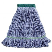 BWK 502BLEA Blue Super Loop Wet Mop Head Cotton/Synthetic Medium Size Per Each