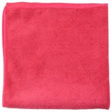 NUA NFCL16RDEA Microfiber Cloth General Purpose 16 Inch x 16 Inch Color Red 12 Wipes Per Pack