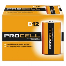 DUR PC1300 Procell D Alkaline Batteries 12 Per Pack