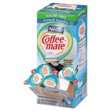 NES 91757 Coffee Mate French Vanilla Non-Dairy Liquid Creamer 0.375oz  50 Per Box