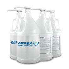 WHD AC0104 AFFEX Care 75% Alcohol Hand Sanitizer Gallon Bottle With Pump 4 Gallons Per Case