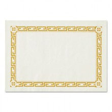 CSM 04150 9.5 x 13.5 Greek Key Placemats 1000 Per Case