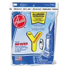 HVR 4010100Y Hoover Disposable Allergen Filtration Bags For Commercial WindTunnel Vacuum 3 Pack