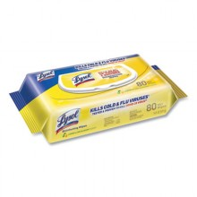 RAC 99716CT Disinfecting Wipes Flatpacks Lemon and Lime Blossom 6/80 Wipes per Case
