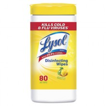 REC 77182CT Lysol Disinfecting Wet Wipes Lemon/Lime 6/80 Per Case