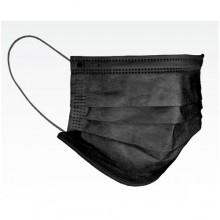 AVT 39149BLK Black Non-Medical Disposable 3-Ply Pleated Face Mask 50 Per Box