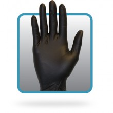 Safety Zone GNEPMDK Black Medium Powder Free 4 MIL Nitrile Gloves10/100 Per Case