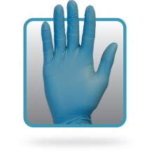 Safety Zone GNPRMD1M Blue Medium Powder Free Nitrile Glove 100 Per Box