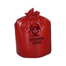 COL HXR24 24x24 1.2 mil Printed Red Infectious Waste 10/25 Per Case