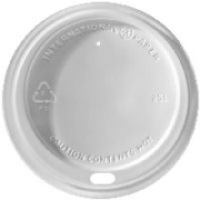 IPR LHRDS16 White Dome Sipper Hot Cup Lid 1200 Per Case