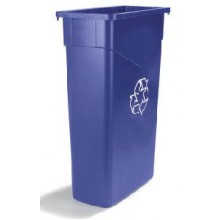Carlisle TrimLine Blue Recycling Waste Receptacle 23 Gallon Per Each