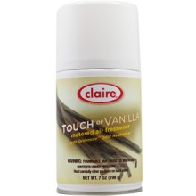 Claire C-108 Touch Of Vanilla Metered Air Freshener 7 oz 12 Per Case